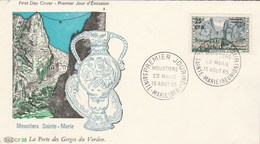 REUNION FDC Yvert  364 Moustiers Ste Marie - Ste Marie 15/8/1965/1965 - Reunion Island (1852-1975)