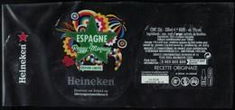 France Lot 3 Étiquettes Bière Beer Labels Bière Heineken Espagne By Peggy Moquay - Beer