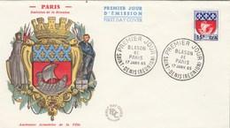 REUNION FDC Yvert  350A Blason Paris - St Denis 17/1/1965 - Reunion Island (1852-1975)