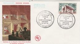 REUNION FDC Yvert  374 Ronchamp - St Denis 24/9/1967 - Reunion Island (1852-1975)