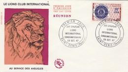 REUNION FDC Yvert  375 Lions International - St Denis 29/10/1967 - Reunion Island (1852-1975)