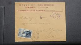 Lettre A En Tete Hotel Du Commerce Rocroi Ardennes Recommandé Provisoire 1948 - 1921-1960: Moderne