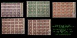 EARLY OTTOMAN SPECIALIZED FOR SPECIALIST, SEE...aus Mi. Nr. 797 - 92 In 25er Blöcken -RRR- - 1921-... República