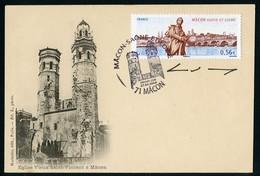 FRANCE (2009). Carte Maximum Card - Mâcon - Saône-et-Loire / Le Vieux Saint Vincent, Church, Lamartine, SIGNED - Cartas Máxima