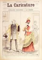 LA CARICATURE-1886-359-ACTUALITES PARISIENNES-DRANER-POETE JEAN RICHEPIN/LUQUE TROCK FOX JOB - Books, Magazines, Comics