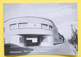 Cartolina Abbiategrasso Viale Alessandro Manzoni 1960 - Milano
