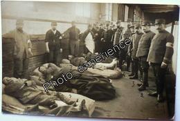 CPA Carte Photo Guerre 14-18 Militaire Hopital Blessé Prisonnier WW1 AMIENS Somme 80 - Amiens