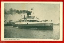 948 SHIP OCEAN LINER '' GJEDSER-WARNEMUNDE-RUTEN'' VINTAGE POSTCARD - Ships