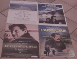 LOT 4 AFFICHES CINEMA FILMS Theo ANGELOPOULOS PAYSAGE DANS LE BROUILLARD PAS SUSPENDU CIGOGNE REGARD ULYSSE - Posters