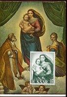 46052, Saar Maximum 1954 Painting Of Raffael  Raphael,  Madonna Sistina, Madonna And Child - Arte