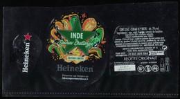 France Lot 3 Étiquettes Bière Beer Labels Bière Heineken Inde By Sourav Chatterjee - Beer