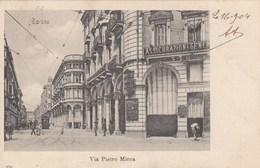 TORINO-VIA PIETRO MICCA-BELLISSIMA CARTOLINA VIAGGIATA IL 16-9-1904 - Italia