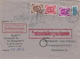 Allemagne Lettre Hildesheim 1952 - [7] Federal Republic