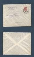 E-PROVINCIAS. 1924 (24 Oct) 276º. MURCIA - Alemania, Hamburgo (29 Oct) Espectacular Sobre Circulado Franqueo 40c Rosa Me - Espagne
