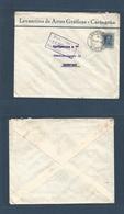 E-PROVINCIAS. 1924 (21 Dic) 319º. MURCIA, Cartagena - Alemania, Hamburgo (27 Dic) Bonito Sobre Empresa Local Franqueo Va - Espagne