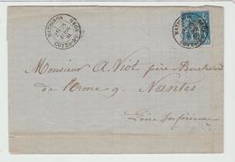 Côte Du Nord : MATIGNON CàD Types 18 / LAC De 1881 > Nantes TB - Storia Postale