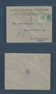 E-PROVINCIAS. 1920 (22 Julio) 268, 272. MURCIA, Cartagena - Alemania, Hamburgo. Bonito Sobre Comercial Obra Publica, Inu - Espagne