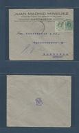 E-PROVINCIAS. 1920 (22 Julio) 268, 272. MURCIA, Cartagena - Alemania, Hamburgo. Bonito Sobre Comercial Obra Publica, Inu - Unclassified