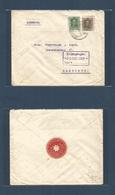E-PROVINCIAS. 1926 (Dic) 314, 318. MURCIA, Lorca - Alemania, Hamburgo (20 Dic) Bonito Sobre Vaguer 10c + 30c. Inusual Co - Espagne