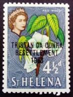 Tristan Da Cunha Sainte Hélène St Helena 1963 Fleur Flower Surchargé Overprinted RESETTLEMENT Yvert 59 ** MNH - Saint Helena Island