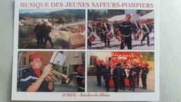 CPM AURIOL 13 MUSIQUE DES JEUNES SAPEURS POMPIERS ZAC DU PUJOL SALLE LUCIENNE MARTIN - Auriol