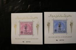 Afghanistan Wrestling Asian Games Djakarta Two Souvenir Sheet Block MNH 1963 A04s - Afghanistan