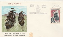 REUNION Yvert 365 Peuplement Ile Bourbon - Cachet Flamme Le Tampon 1965 - Illustration 1 - Reunion Island (1852-1975)