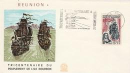 REUNION   Yvert 365 Peuplement Ile Bourbon - Cachet Flamme Le Port 1965 - Illustration 1 - Reunion Island (1852-1975)