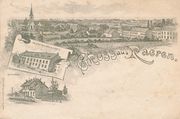 352/29 - CANTONS DE L' EST - Carte-vue Gruss Aus RAEREN TP Germania Ambulant EUPEN - HERBESTHAL 1901 - Raeren