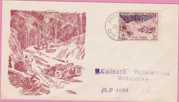 AOF 1956 Série FIDES YT N° 61  ABIDJAN - COTE D'IVOIRE - FDC - Tirage Limité Exemplaire N°67 - Timbres