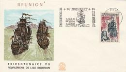 REUNION  Yvert 365 Peuplement Ile Bourbon - Cachet Flamme St Pierre 1965 - Illustration 1 - Reunion Island (1852-1975)