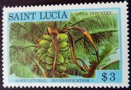 Sainte Lucie Saint Lucia 1979 Agriculture Coprah Yvert 464 ** MNH - St.Lucia (1979-...)