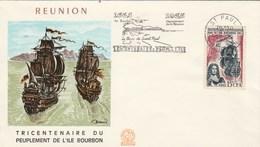 REUNION Yvert 365 Peuplement Ile Bourbon - Cachet Flamme St Paul 1965 - Illustration 1 - Reunion Island (1852-1975)