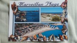 CPM MARSEILLAN HERAULT PLAGE COQUILLAGE CHENAL MULTI VUES  ED AS - Marseillan