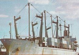 "M/N FRANK PAIS Porte-conteneurs ""Empresa Navigacion Manbisa 20 Aniversedo 1960-1980"" - Cargos"