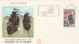 REUNION   Yvert 365 Peuplement Ile Bourbon - Cachet Flamme St Joseph 1965 - Illustration 1 - Reunion Island (1852-1975)