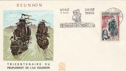 REUNION  Yvert 365 Peuplement Ile Bourbon - Cachet Flamme St Denis 1965 - Illustration 1 - Reunion Island (1852-1975)