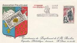 REUNION   Yvert 365 Peuplement Ile Bourbon - Cachet Flamme St Denis 1965 - Illustration 2 - Reunion Island (1852-1975)