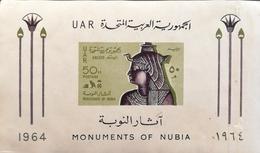 Egypt 1964 Monument Of Nubia S/S NO GUM - Unused Stamps