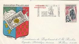 REUNION  Yvert 365 Peuplement Ile Bourbon - Cachet Flamme St Pierre 1965 - Illustration 2 - Reunion Island (1852-1975)