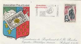 REUNION  Yvert 365 Peuplement Ile Bourbon - Cachet Flamme St Joseph 1965 - Illustration 2 - Reunion Island (1852-1975)