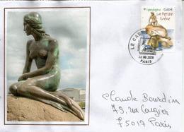 La Petite Sirène.Den Lille Havfrue , Copenhague,  Sur Lettre France. - Monuments