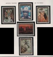 Polynésie °° 1974  Pa 84/88 Artistes Tableaux Cote:235 - Neufs