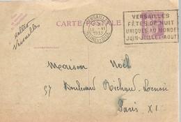 CARTE POSTALE  VERSAILLES 1933 - Enteros Postales