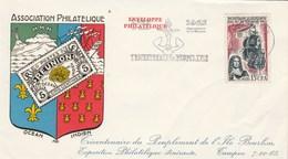 REUNION   Yvert 365 Peuplement Ile Bourbon - Cachet Flamme Le Tampon 1965 - Illustration 2 - Froissure Bas Droite - Reunion Island (1852-1975)