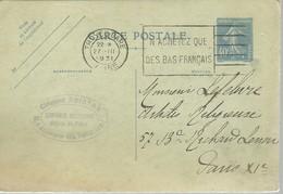 CARTE POSTALE  TROYES- GARE 1931 - Enteros Postales