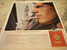 ANCIENNE PUBLICITE  FLORENCE NOUVEL AROME CIGARETTE PEER EXPORT 1963 - Tabac (objets Liés)