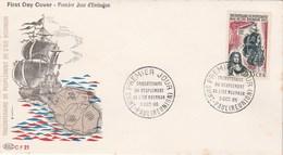 REUNION FDC Yvert 365 Peuplement Ile Bourbon - Cachet   St Paul 1965 - Illustration 3 - Reunion Island (1852-1975)
