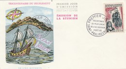 REUNION FDC Yvert 365 Peuplement Ile Bourbon - Cachet   St Paul 1965 - Illustration 4 - Reunion Island (1852-1975)