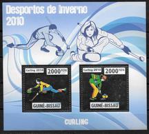 GUINEE BISSAU Feuillet N° 3317/18 * *  ARGENT  ( Cote 22e ) Curling - Sonstige